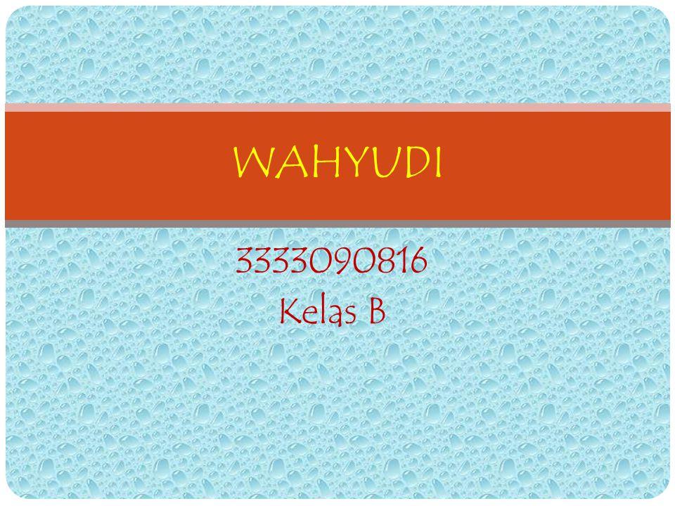 WAHYUDI 3333090816 Kelas B