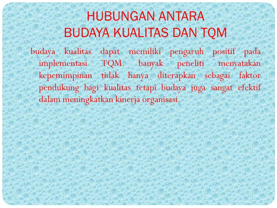 HUBUNGAN ANTARA BUDAYA KUALITAS DAN TQM