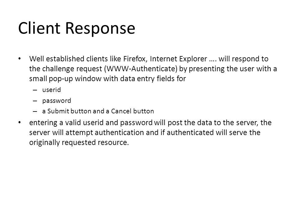 Client Response