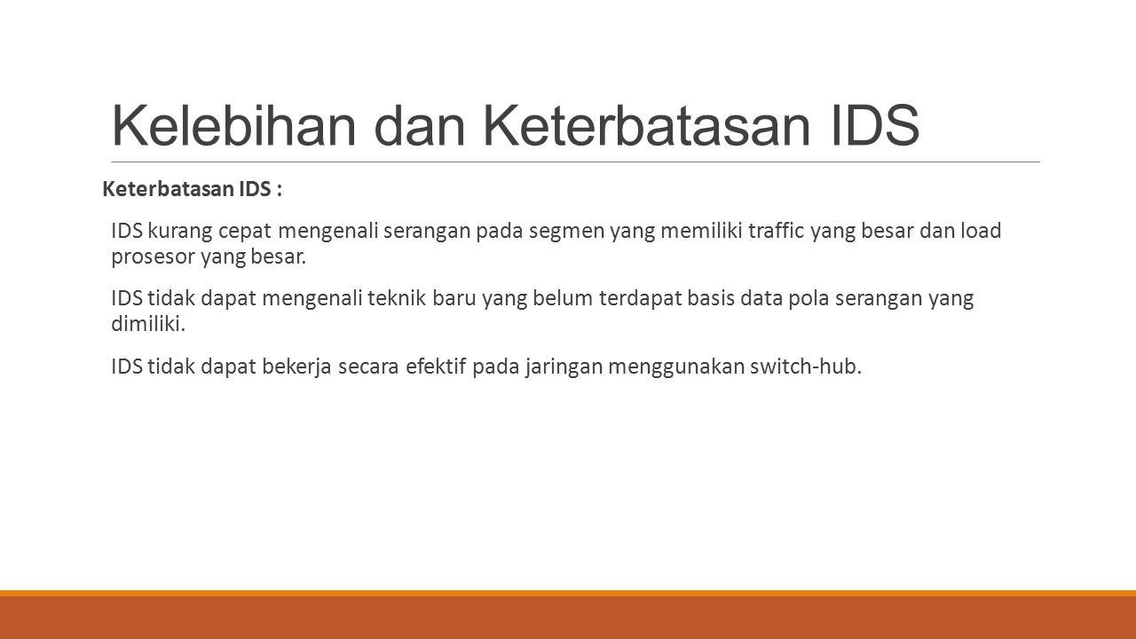 Kelebihan dan Keterbatasan IDS
