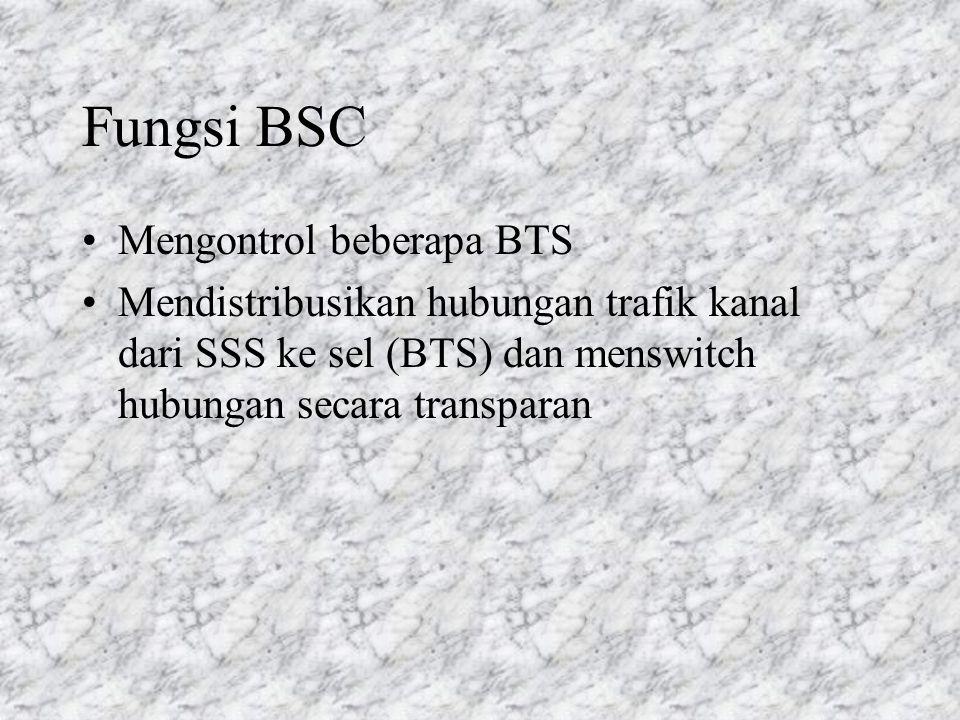 Fungsi BSC Mengontrol beberapa BTS