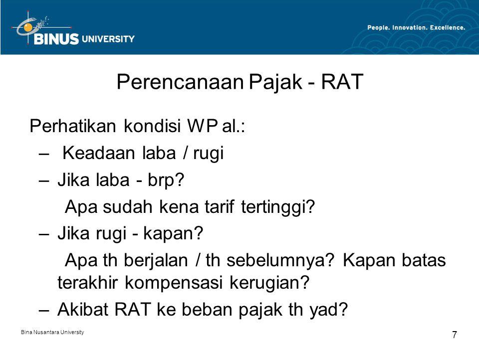 Perencanaan Pajak - RAT