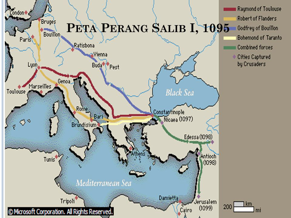 Perang Salib I Peta Perang Salib I, 1095