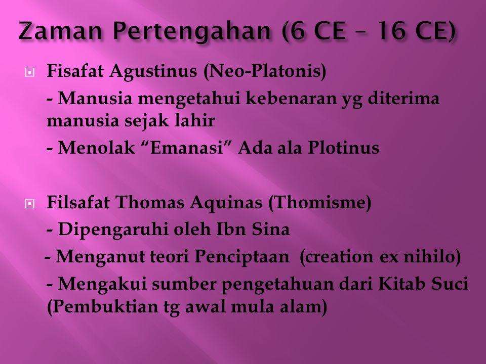 Zaman Pertengahan (6 CE – 16 CE)