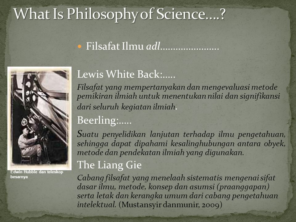What Is Philosophy of Science….