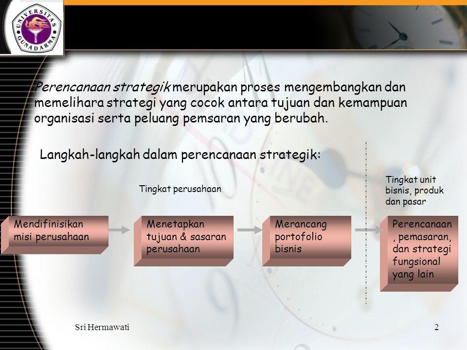 Langkah-langkah dalam perencanaan strategik: