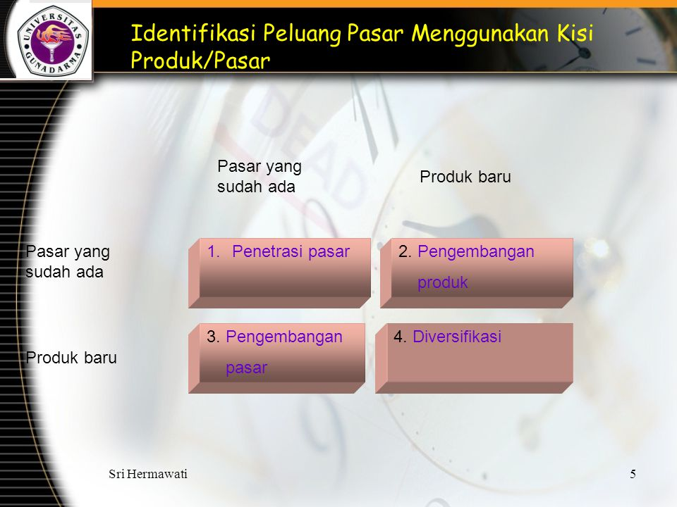 Identifikasi Peluang Pasar Menggunakan Kisi Produk/Pasar