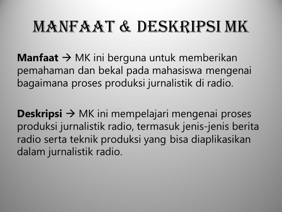 Manfaat & Deskripsi MK