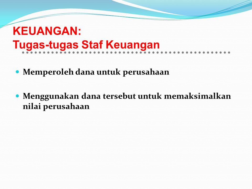 KEUANGAN: Tugas-tugas Staf Keuangan