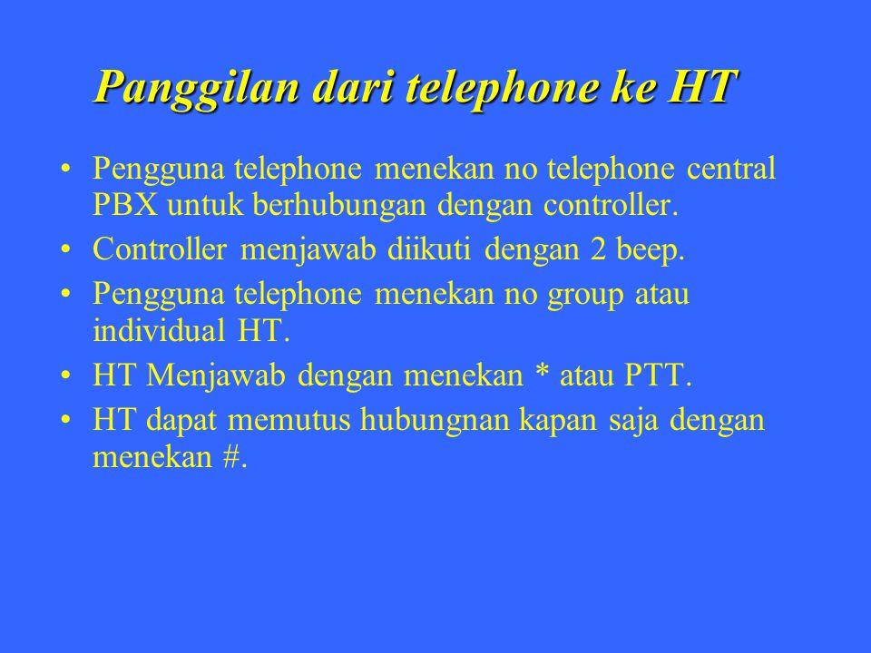 Panggilan dari telephone ke HT