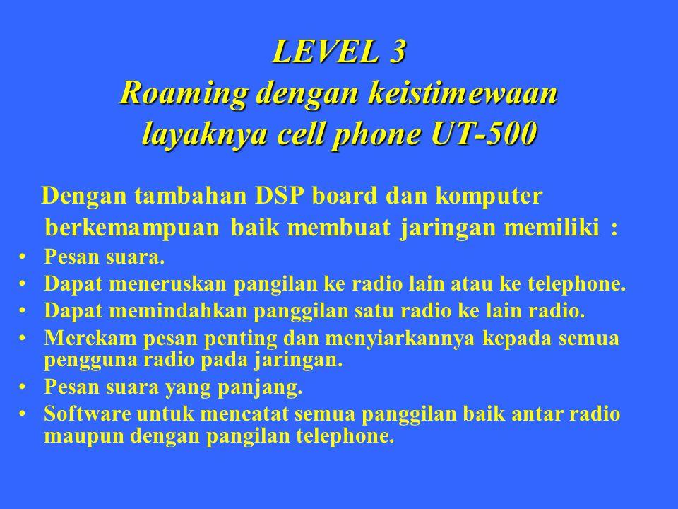 LEVEL 3 Roaming dengan keistimewaan layaknya cell phone UT-500