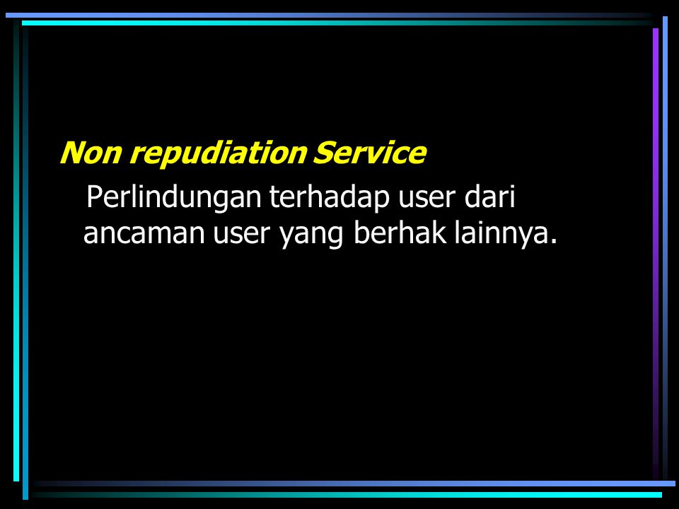Non repudiation Service