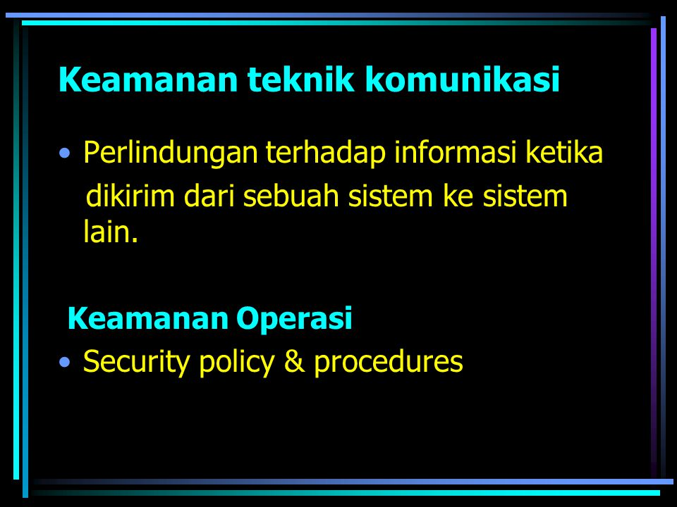 Keamanan teknik komunikasi