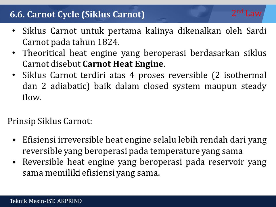 6.6. Carnot Cycle (Siklus Carnot)