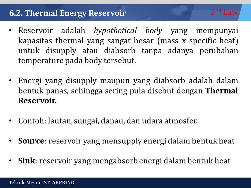 6.2. Thermal Energy Reservoir