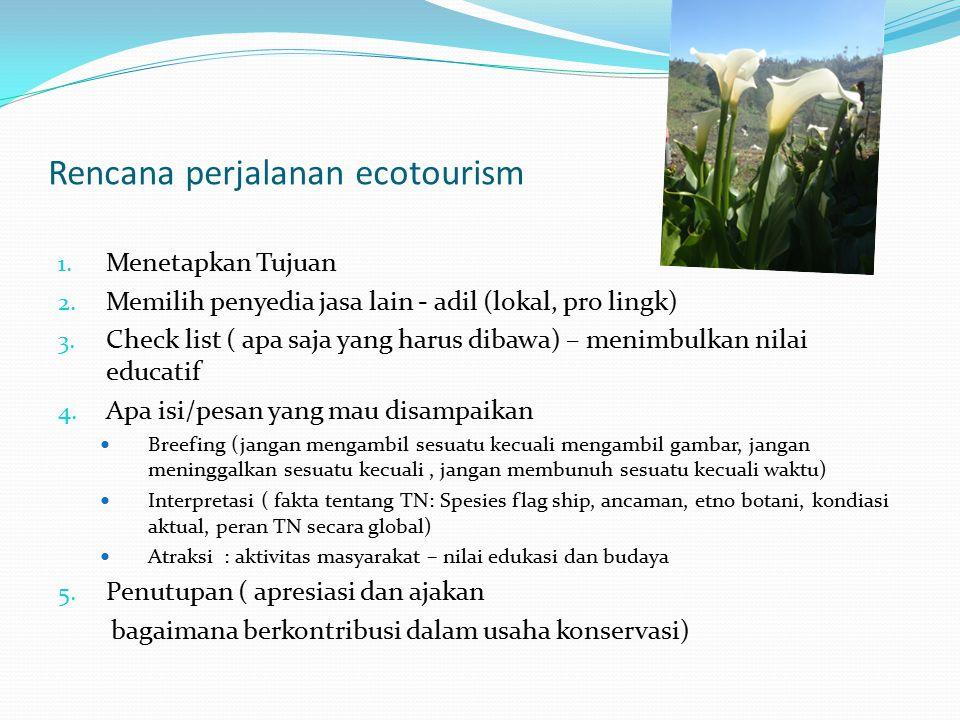 Rencana perjalanan ecotourism