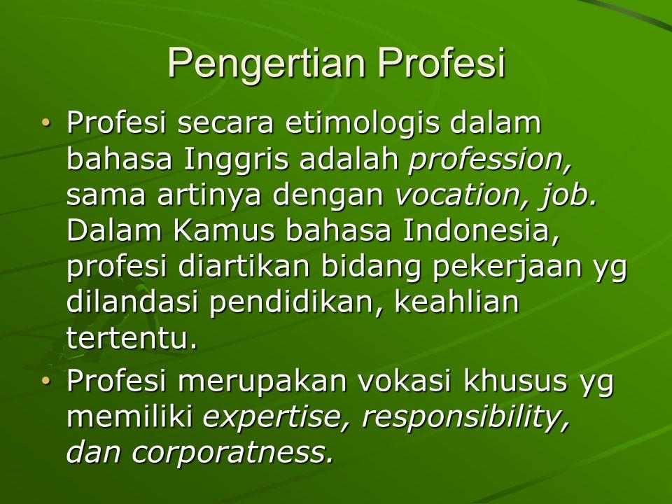 Pengertian Profesi