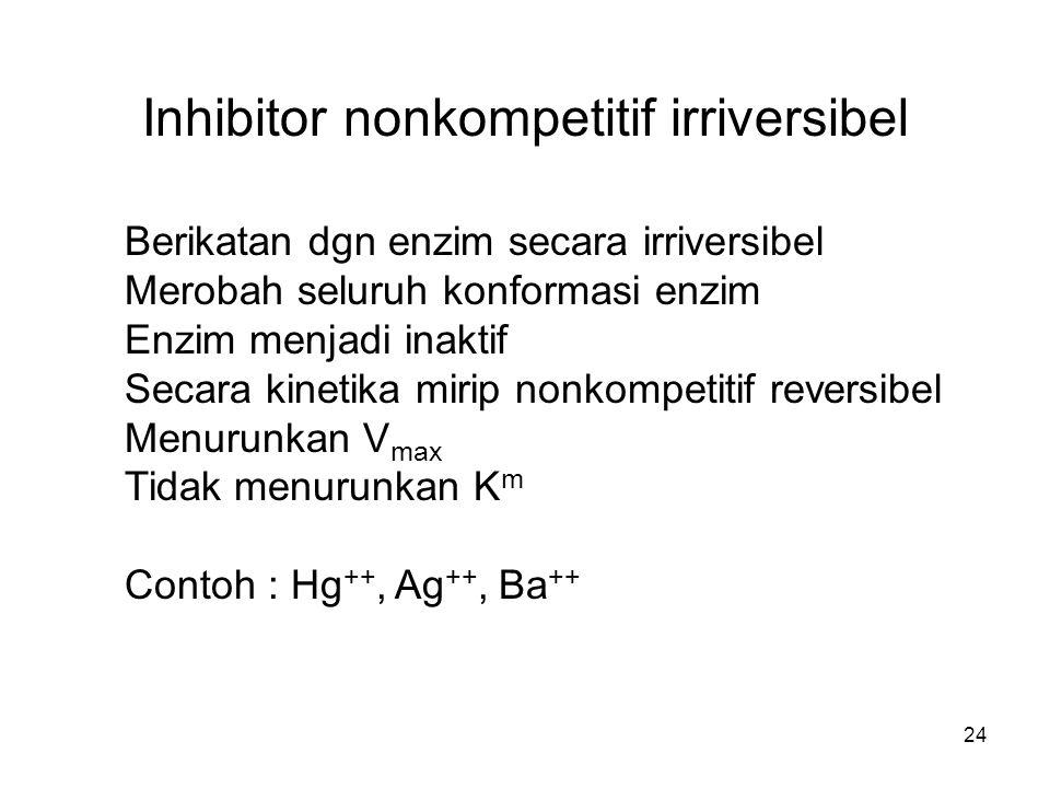 Inhibitor nonkompetitif irriversibel