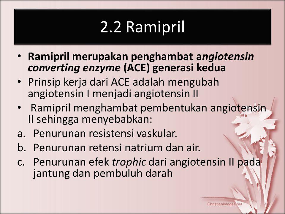 2.2 Ramipril Ramipril merupakan penghambat angiotensin converting enzyme (ACE) generasi kedua.
