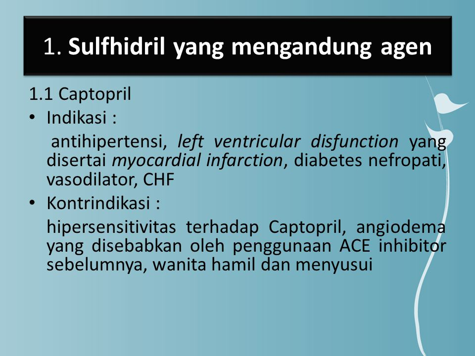 1. Sulfhidril yang mengandung agen