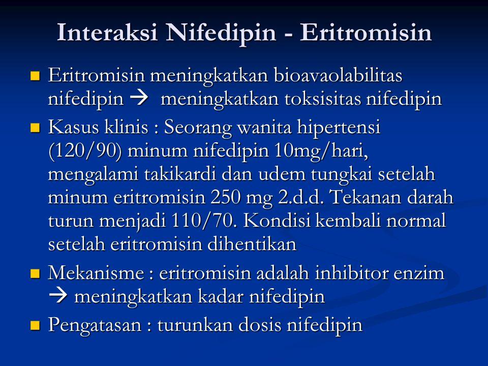 Interaksi Nifedipin - Eritromisin