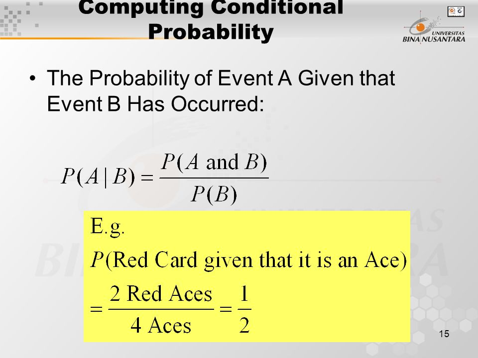 Computing Conditional Probability