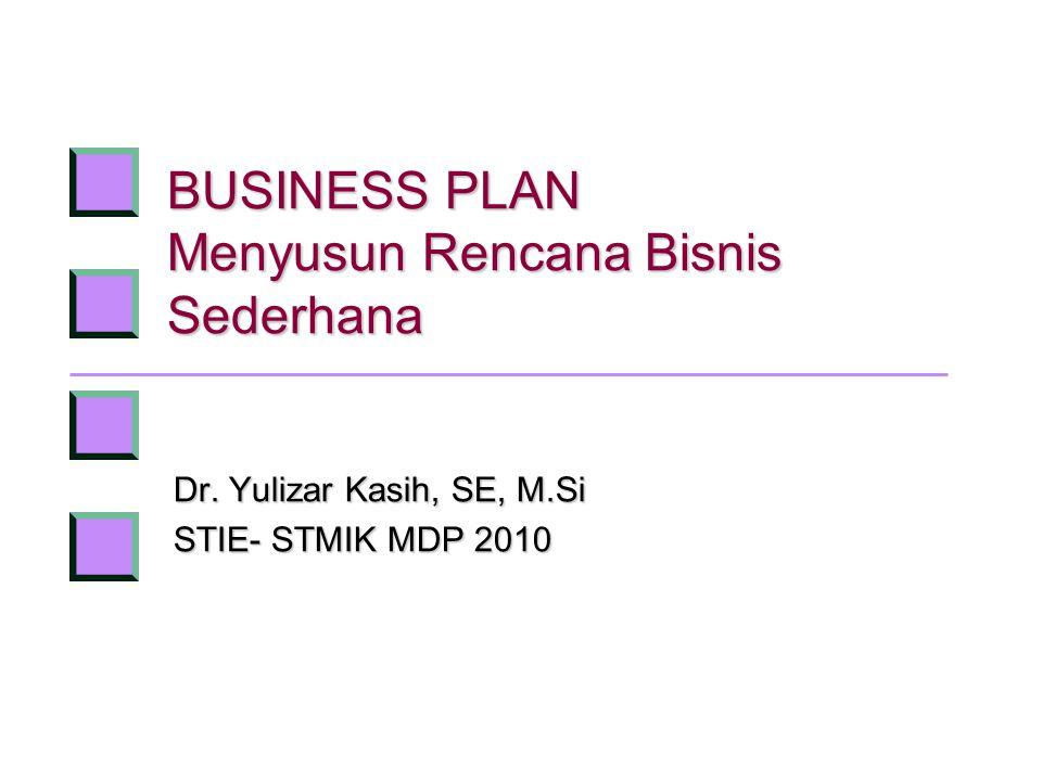 BUSINESS PLAN Menyusun Rencana Bisnis Sederhana