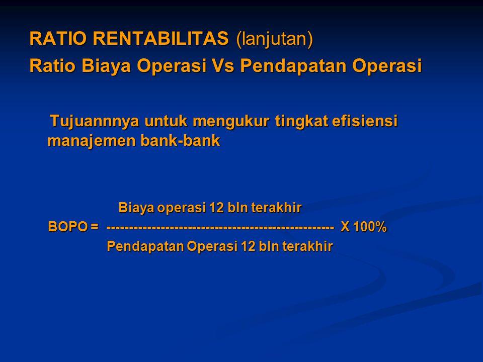 RATIO RENTABILITAS (lanjutan)