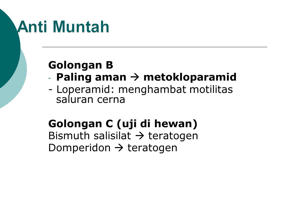 Anti Muntah Golongan B Paling aman  metokloparamid