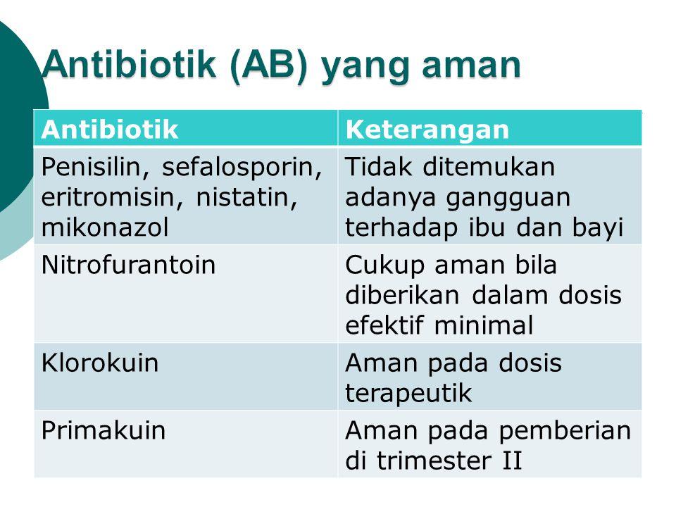 Antibiotik (AB) yang aman