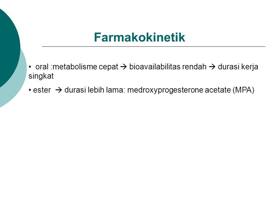 Farmakokinetik oral :metabolisme cepat  bioavailabilitas rendah  durasi kerja singkat.