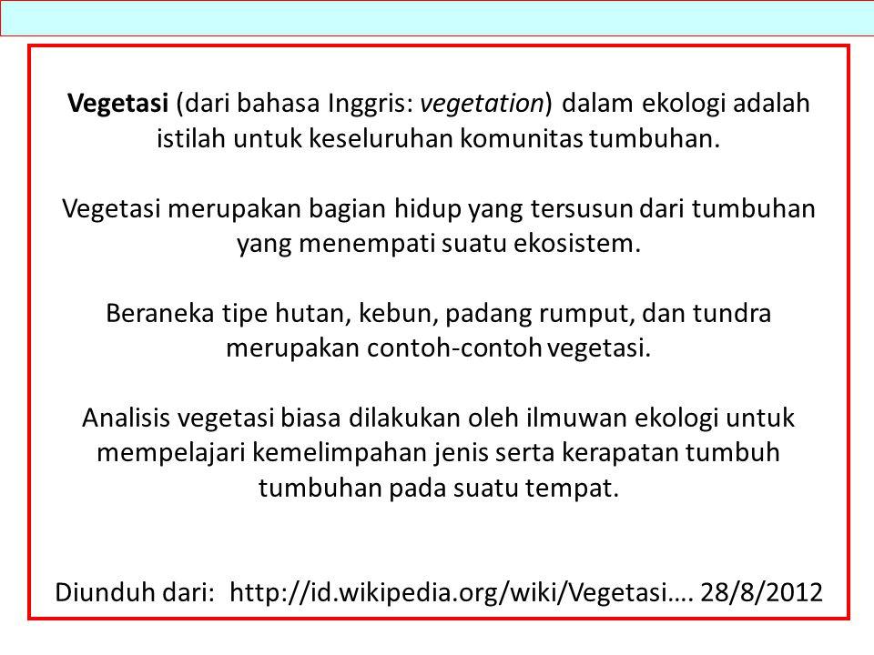 Diunduh dari: http://id.wikipedia.org/wiki/Vegetasi…. 28/8/2012