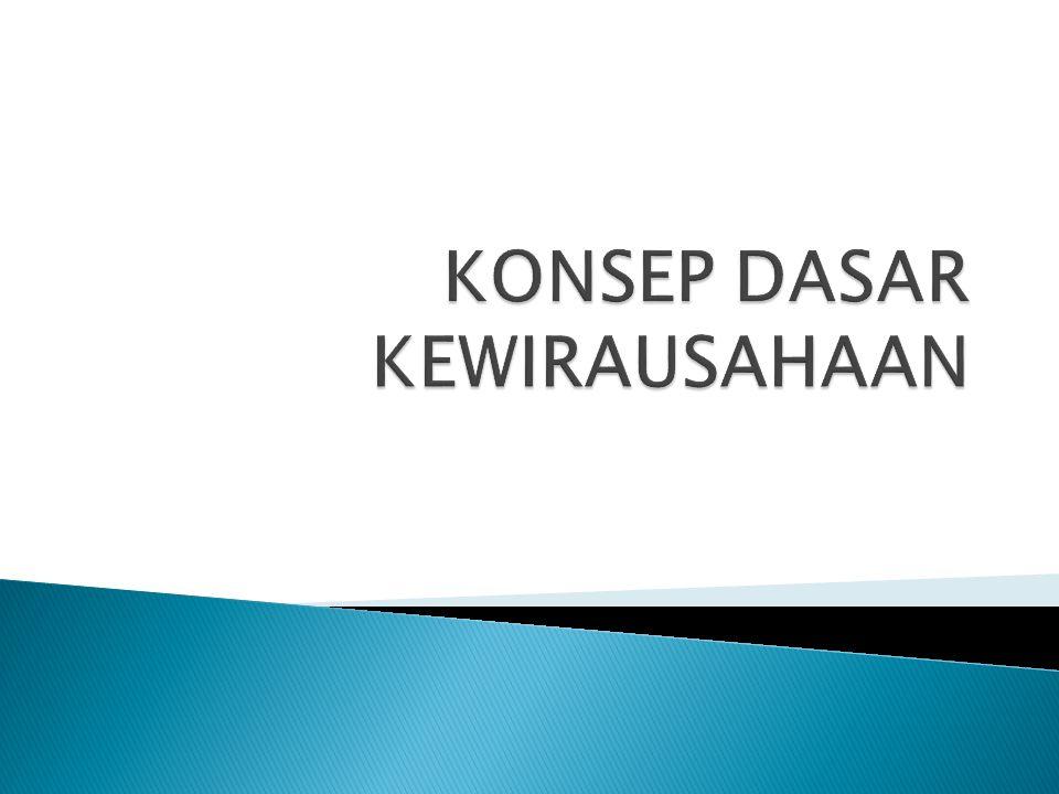KONSEP DASAR KEWIRAUSAHAAN