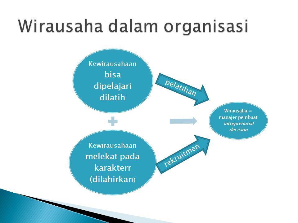 Wirausaha dalam organisasi