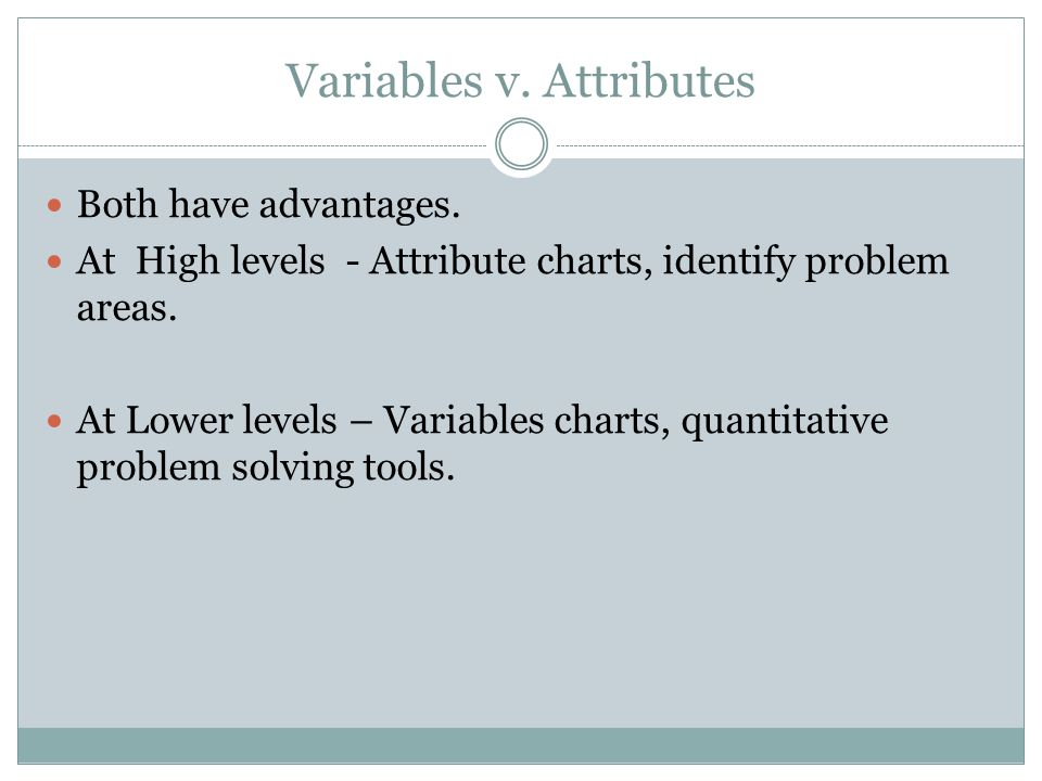 Variables v. Attributes