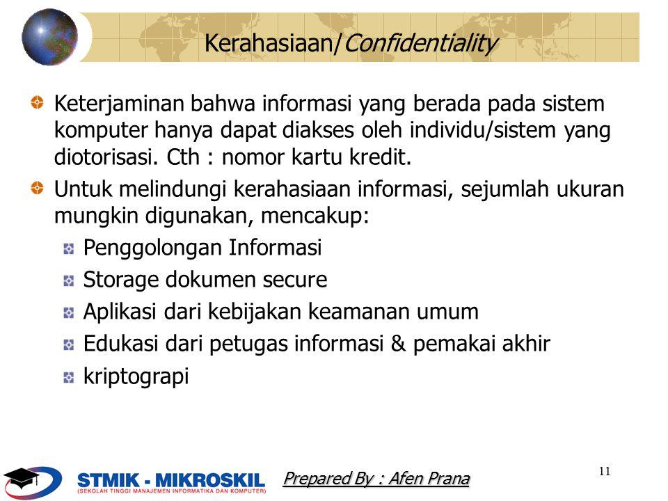 Kerahasiaan/Confidentiality