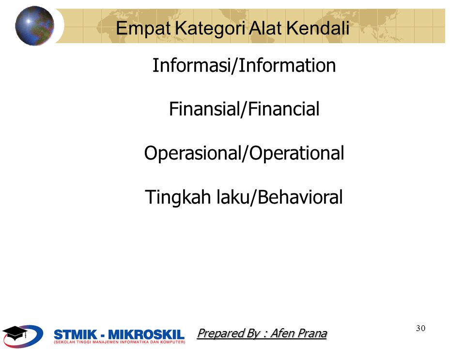 Empat Kategori Alat Kendali