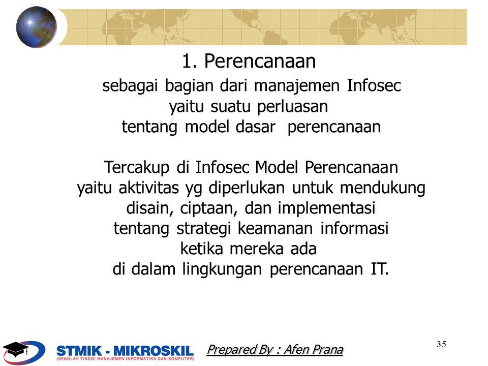 sebagai bagian dari manajemen Infosec