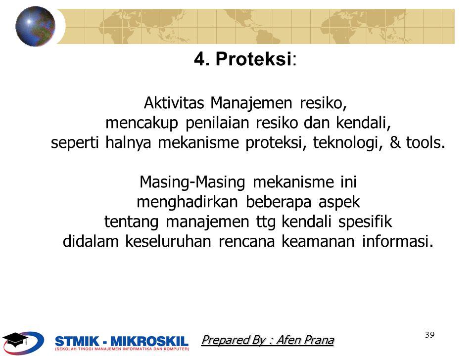 4. Proteksi: Aktivitas Manajemen resiko,