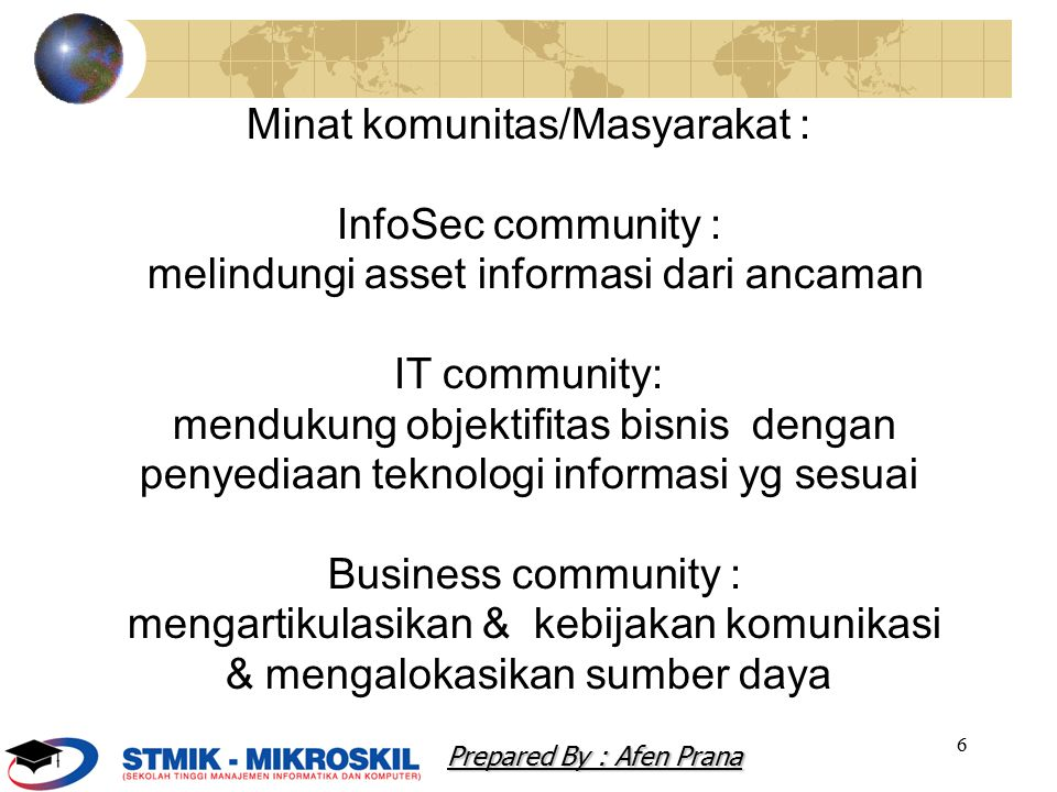 Minat komunitas/Masyarakat : InfoSec community :