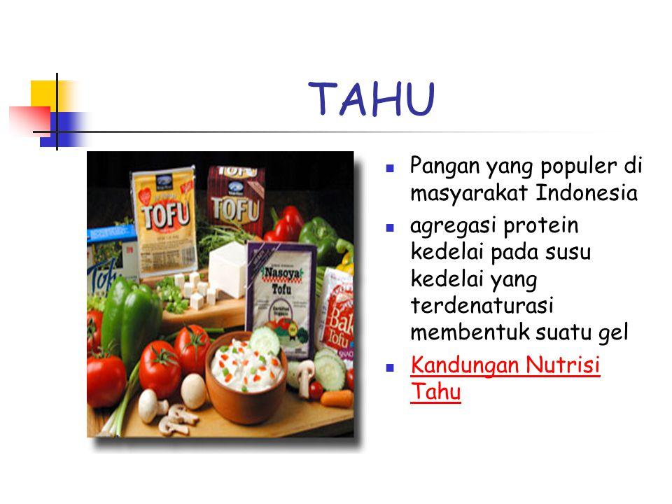 TAHU Pangan yang populer di masyarakat Indonesia