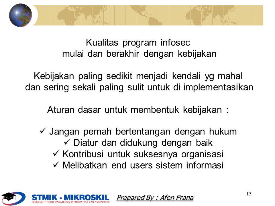 Kualitas program infosec mulai dan berakhir dengan kebijakan