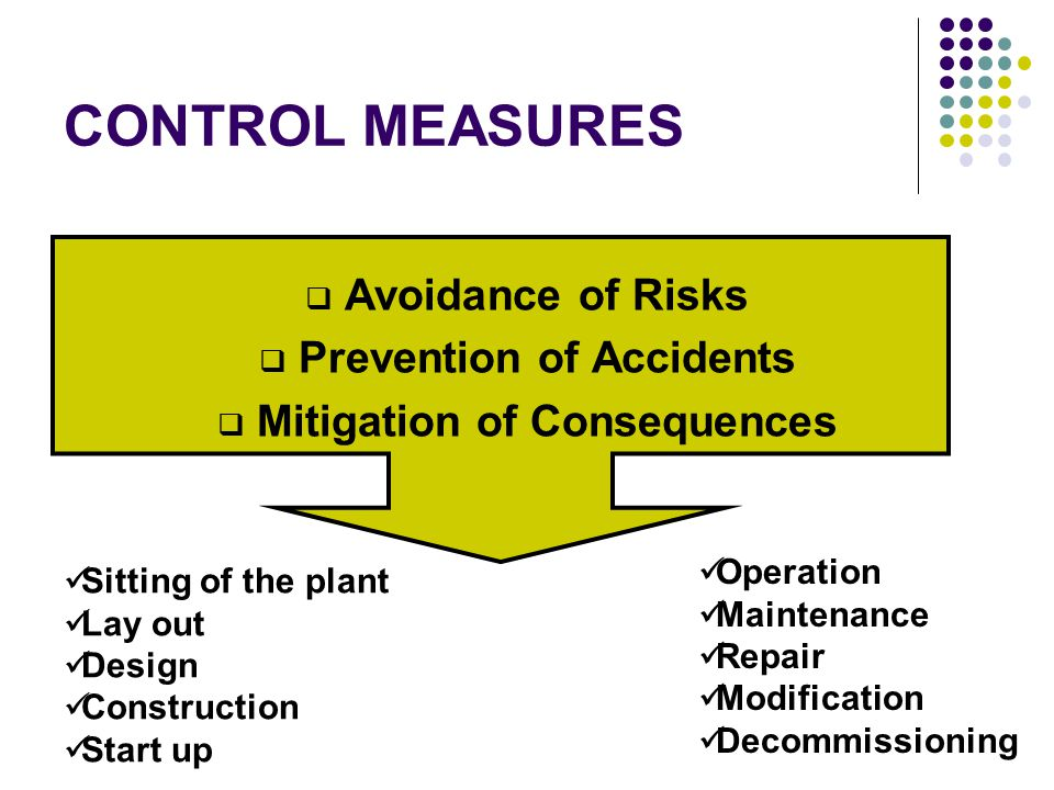 Prevention of Accidents Mitigation of Consequences