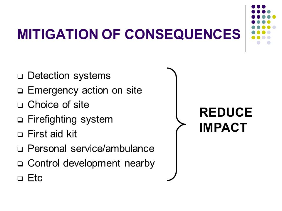 MITIGATION OF CONSEQUENCES