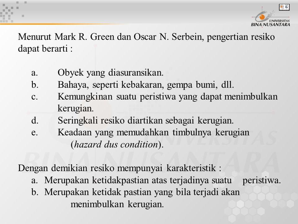 Menurut Mark R. Green dan Oscar N