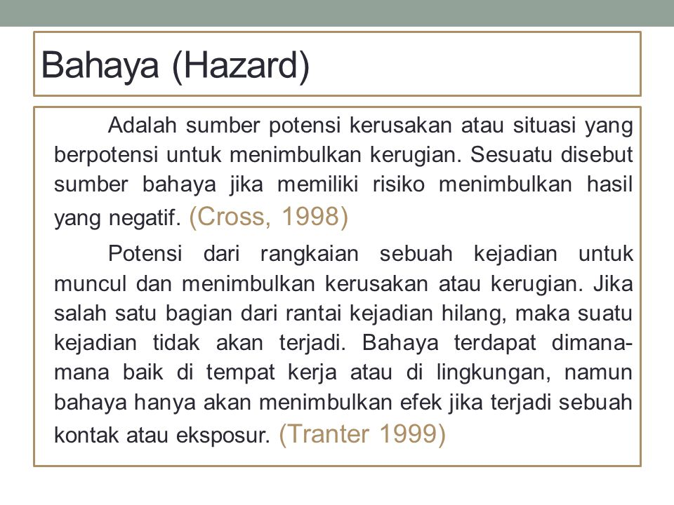 Bahaya (Hazard)