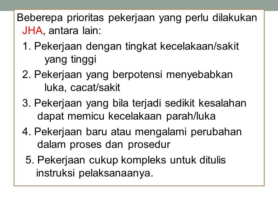 Beberepa prioritas pekerjaan yang perlu dilakukan JHA, antara lain: