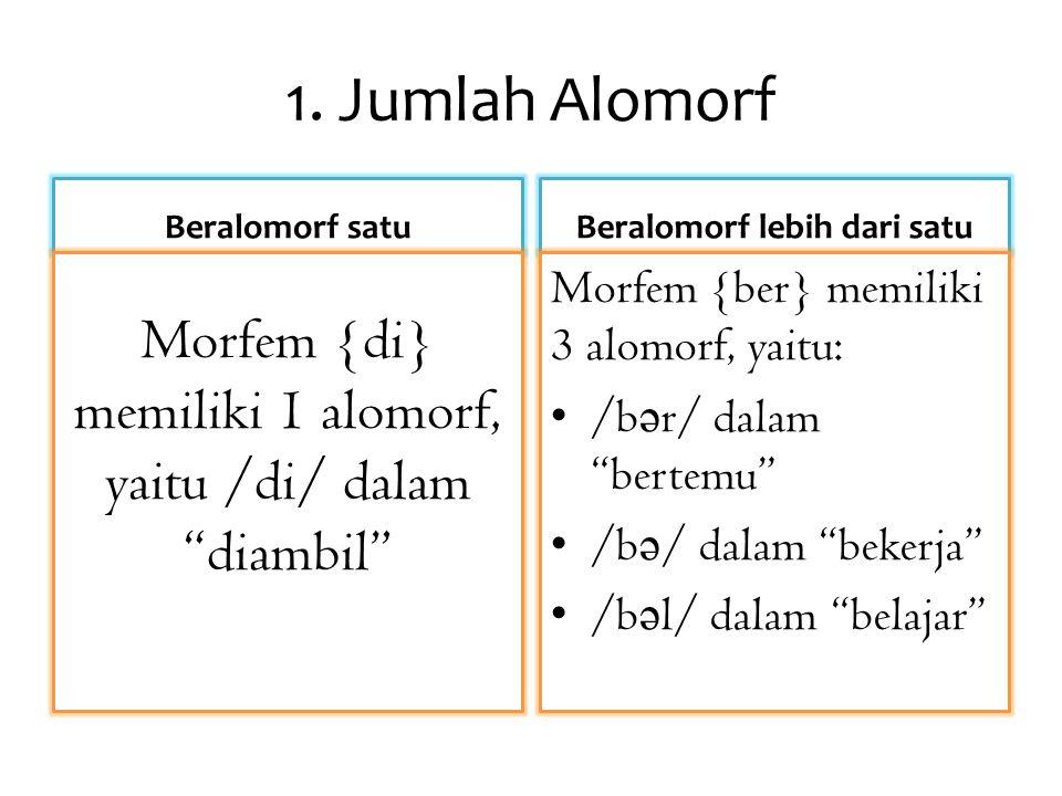 Beralomorf lebih dari satu