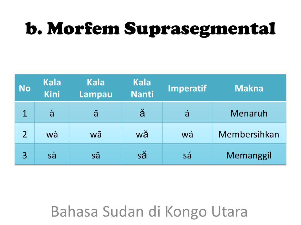 b. Morfem Suprasegmental