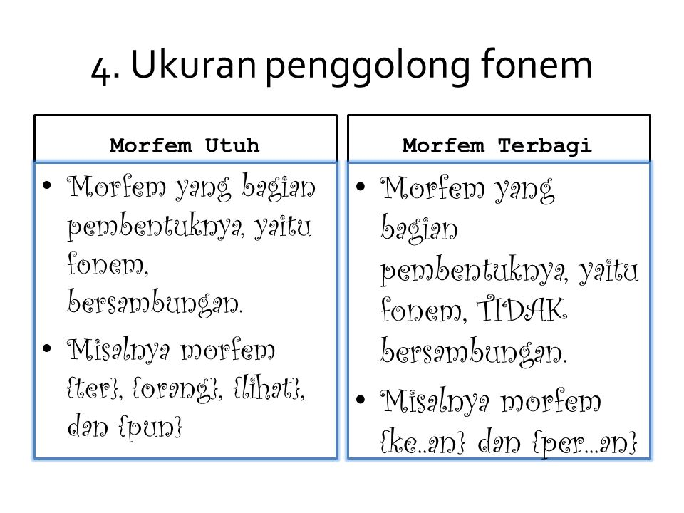 4. Ukuran penggolong fonem
